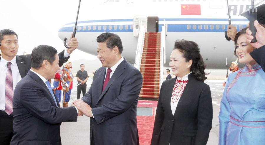 Xi's Mongolia trip to build closer neighborhood
