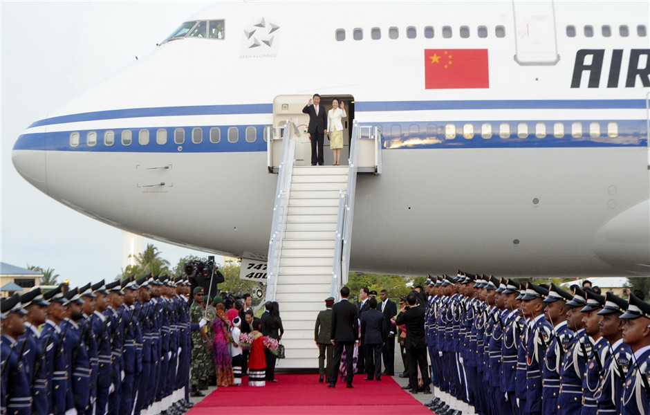 President Xi Jinping arrived Maldives for a state visit