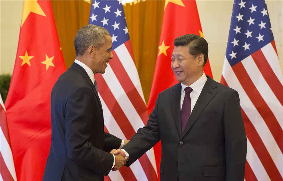Xi holds welcoming ceremony for visiting US president