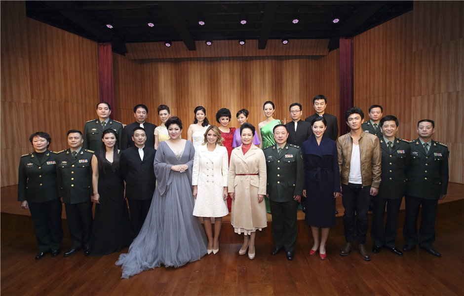 Xi's wife takes Mexican first lady to PLA Academy of Arts