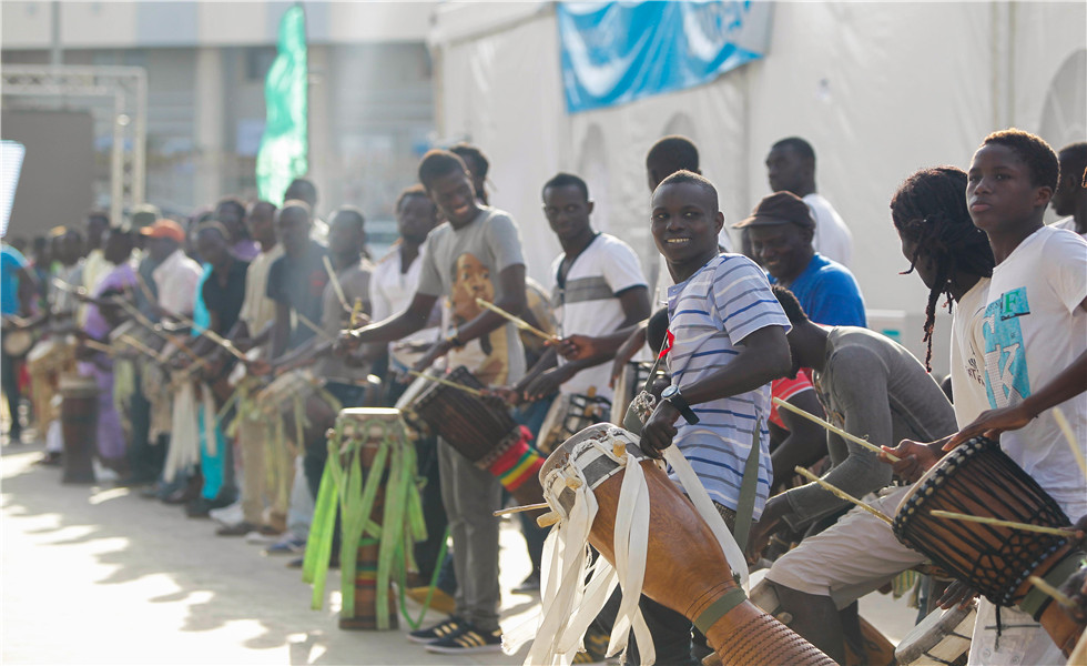 The opening ceremony of the Cultural Village of La Francophonie in Dakar