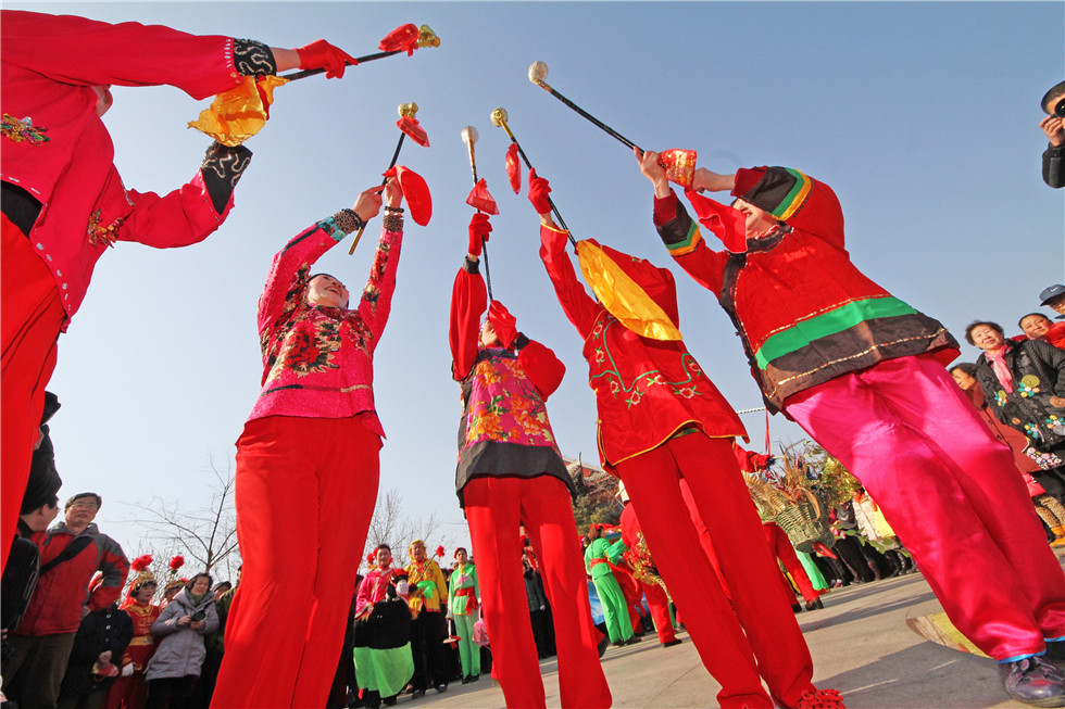 Spring festival celebration in Shandong