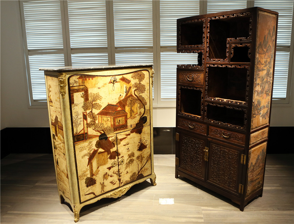 The 18th century Sino-French furniture exhibition in Hong Kong