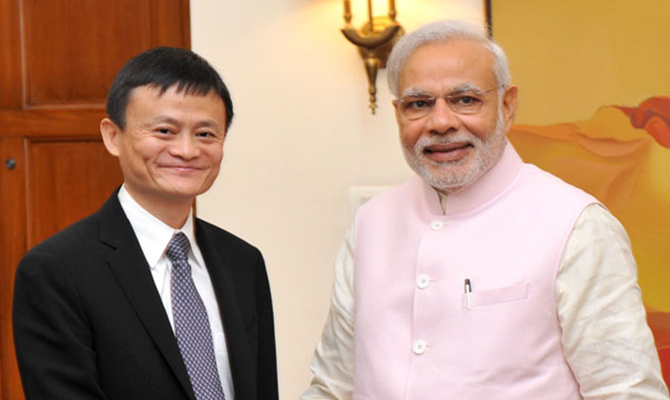 Indian PM, founder of China's Alibaba see entrepreneurship driving force for growth