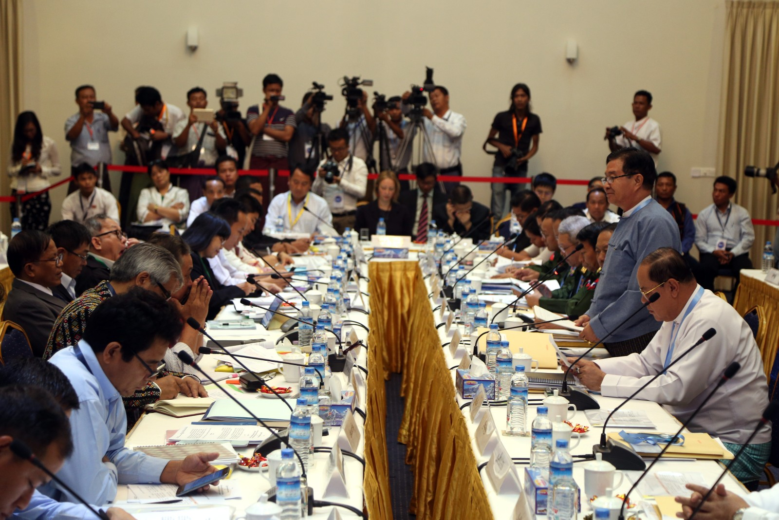 Draft nationwide ceasefire agreement preliminarily signed in Myanmar