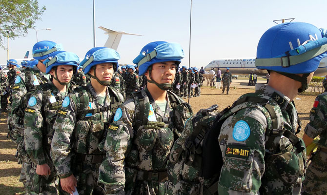 Chinese peacekeeping troops show responsibility, professionalism