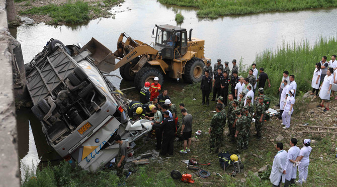Death toll from NE China bus crash rises to 11