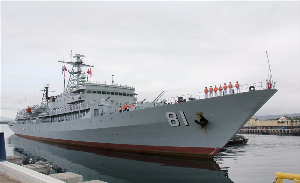 "Chinese navy vessel ""Zhenghe"" pays goodwill visit to U.S."